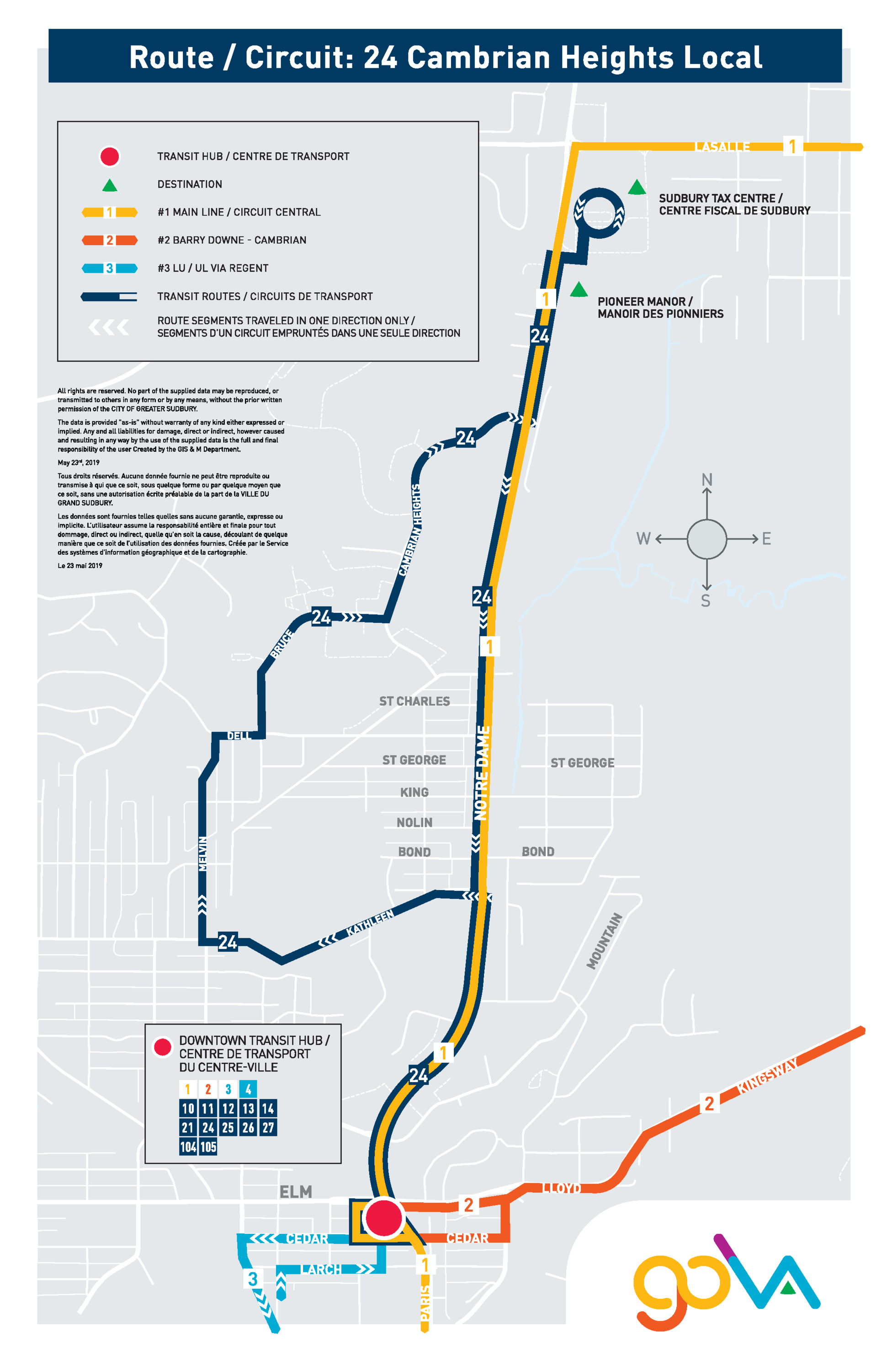 GOVA Routes and Schedules