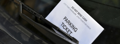 picture of parking ticket