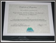 Sudbury 2003 Mining and the Environment Certificate of Recognition