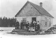 First School in Coniston circa 1908.  Photo courtesy of the Greater Sudbury Historical Database.